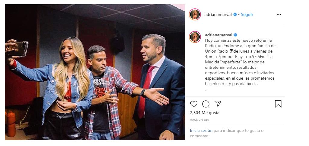 """Adriana Marval llega al Circuito Unión Radio con """"La Medida Imperfecta"""""""