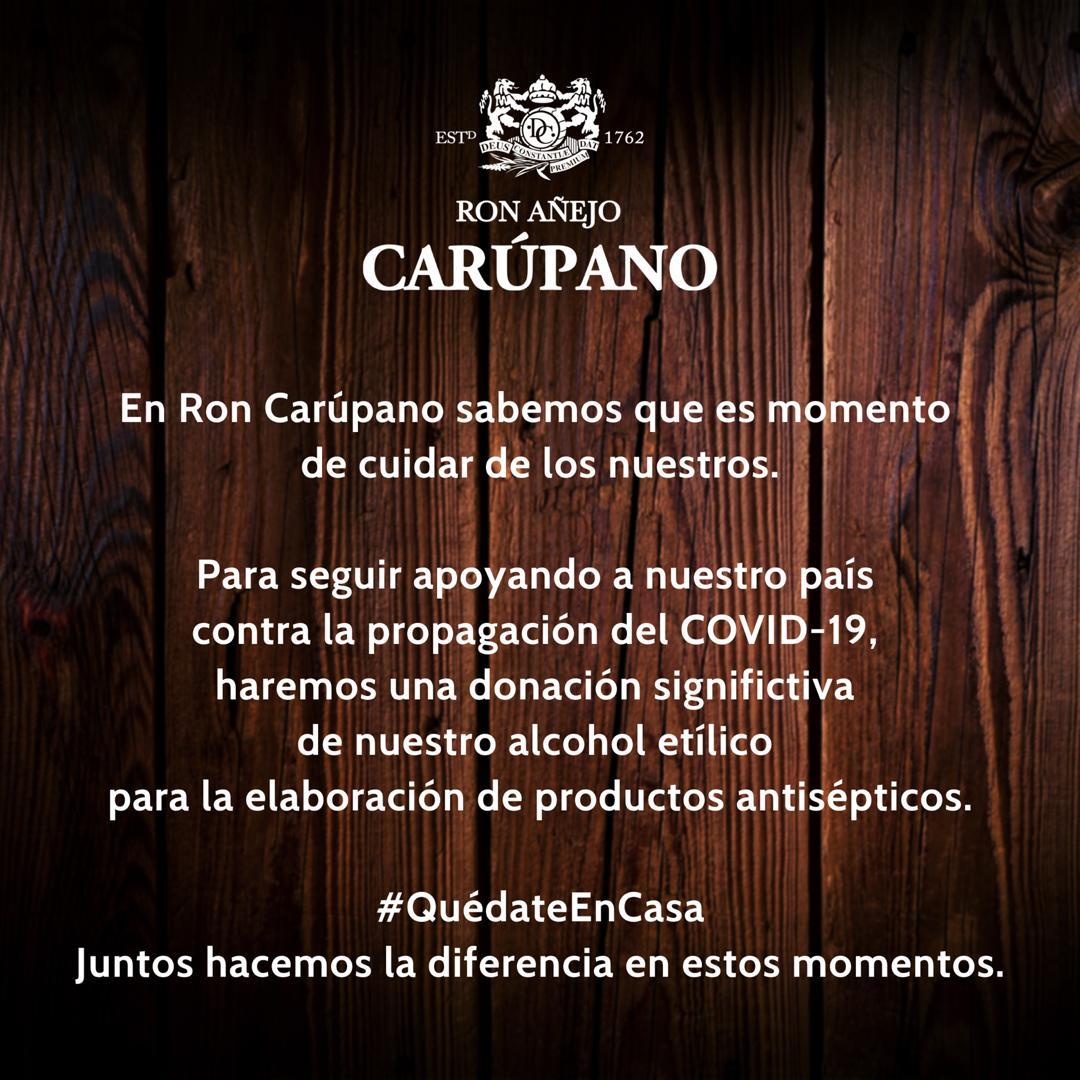Ron Carúpano apoya a Venezuela contra la propagación del COVID-19