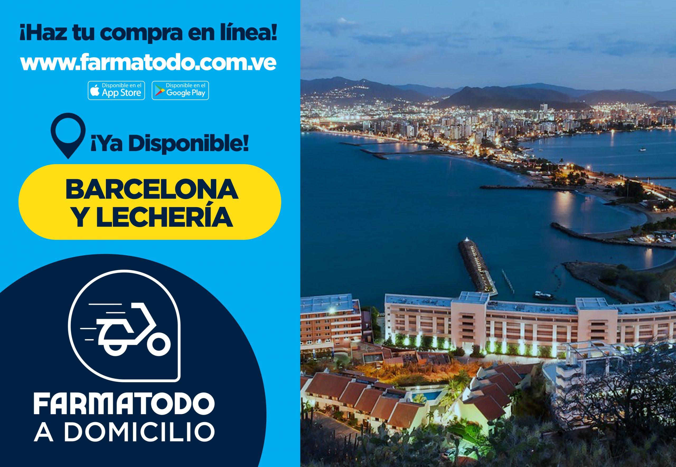 Farmatodo extiende su servicio Delivery a Barcelona y  Lechería