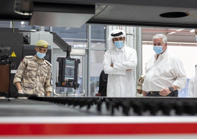 Su Alteza El Emir de Qatar,inspecciona producción de ventiladores(Savr-Q)