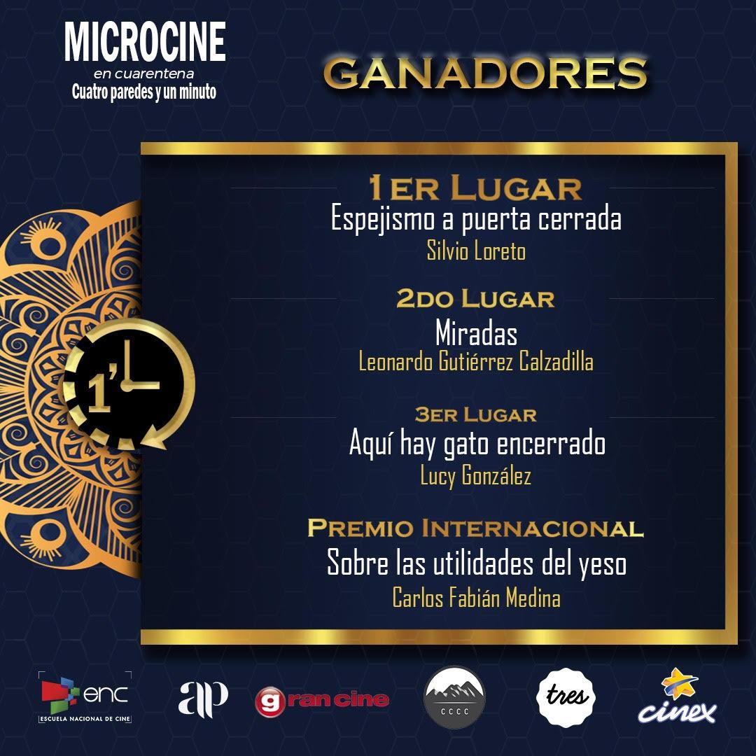 Ganadores MicrocineENCuarentena