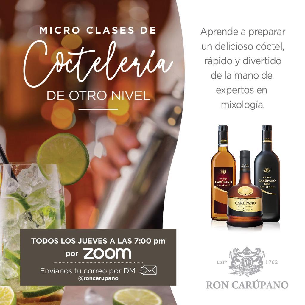 Ron Carúpano te enseña a preparar cocteles en casa