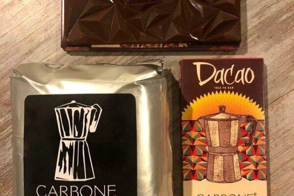 Espectacular la nueva tableta  Chocolate Cappuccino 55% de DacacaoTree to Bar en alianza con Carbone Espresso