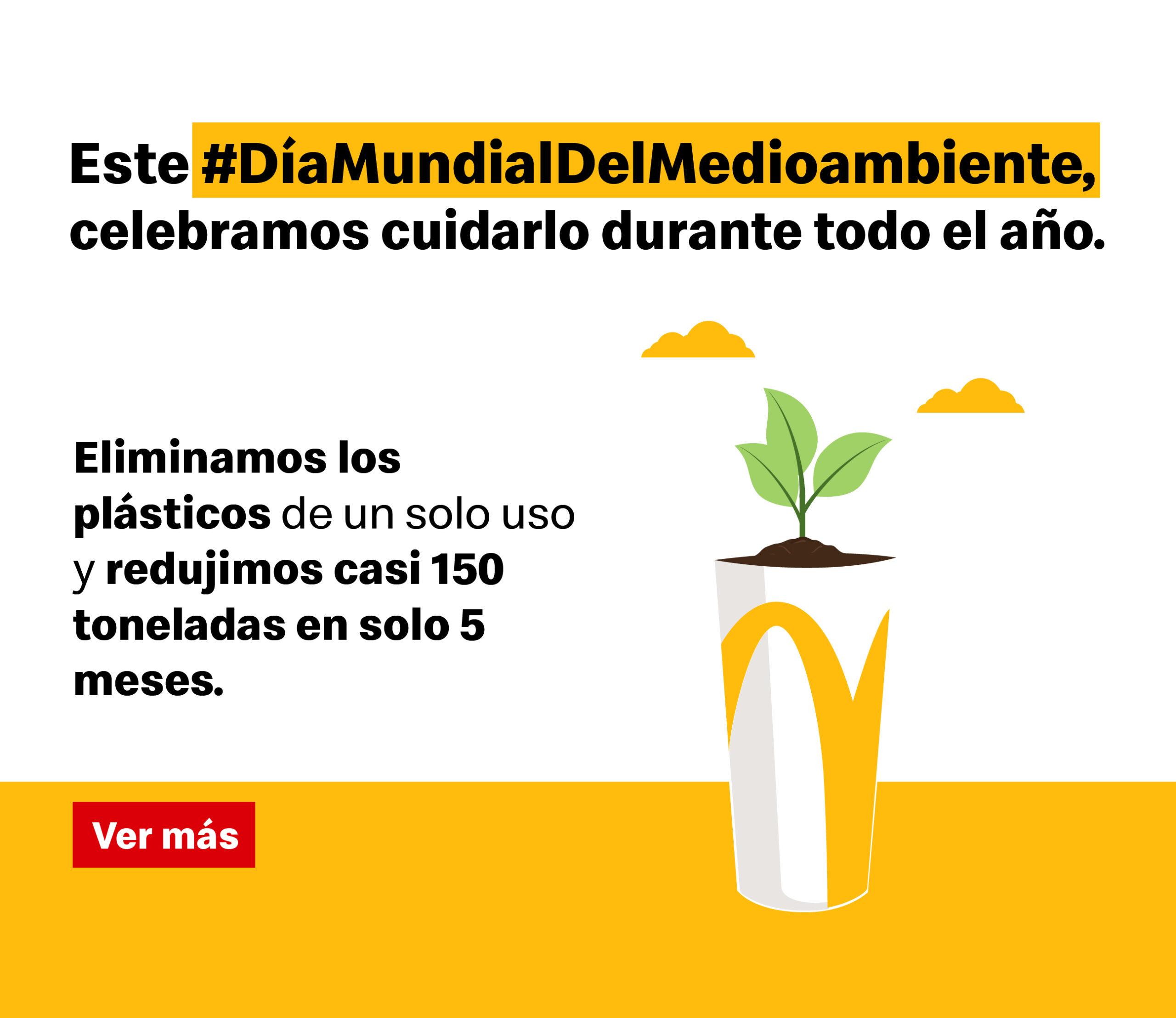En el Día Mundial del Medio Ambiente, Arcos Dorados anuncia la eliminación de casi 150 toneladas de plástico de un solo uso en 2020