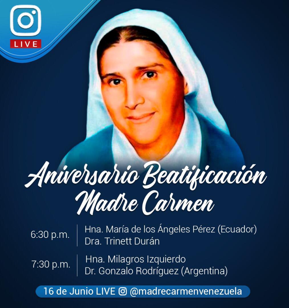 En su segundo aniversario de beatificación, Los católicos celebran a la Madre Carmen