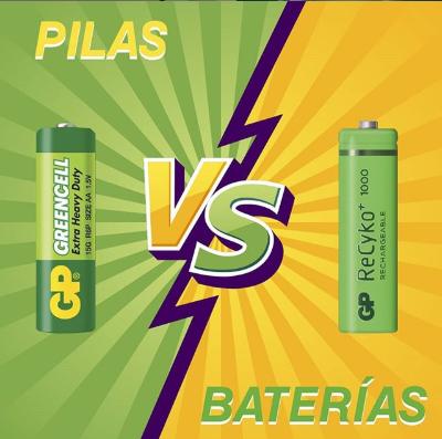 BATERÍAS Y PILAS, DOS TIPOS DE ENERGÍAS MUY DIFERENTES