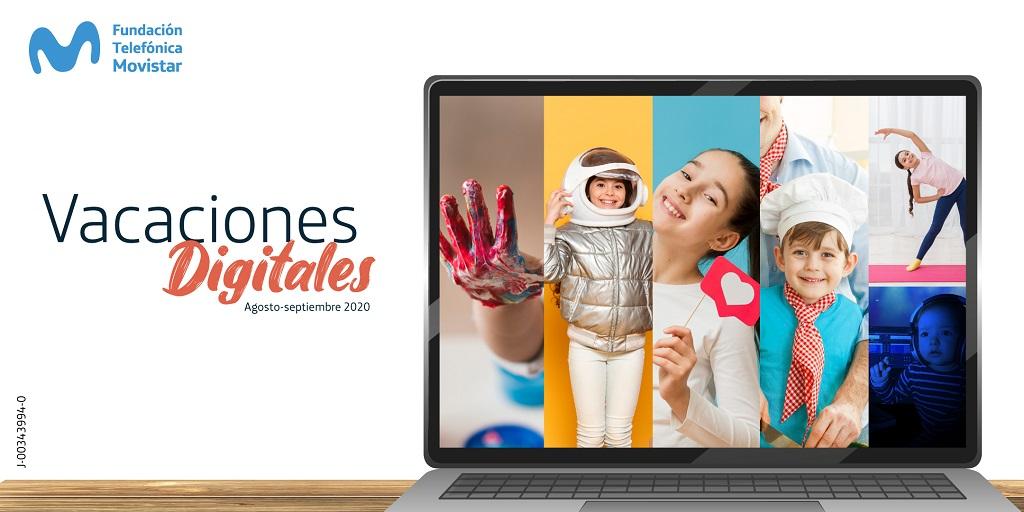Fundación Telefónica Movistar lanza Vacaciones Digitales para promover entretenimiento y aprendizaje infantil desde casa