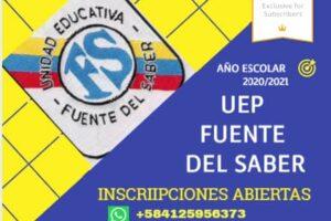 U.E. Fuente del Saber inicia proceso de insripciones