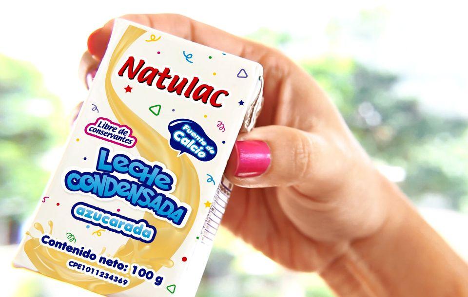 Tetra pak® de 100 gramos. La leche condensada Natulac vuelve al mercado con nueva imagen