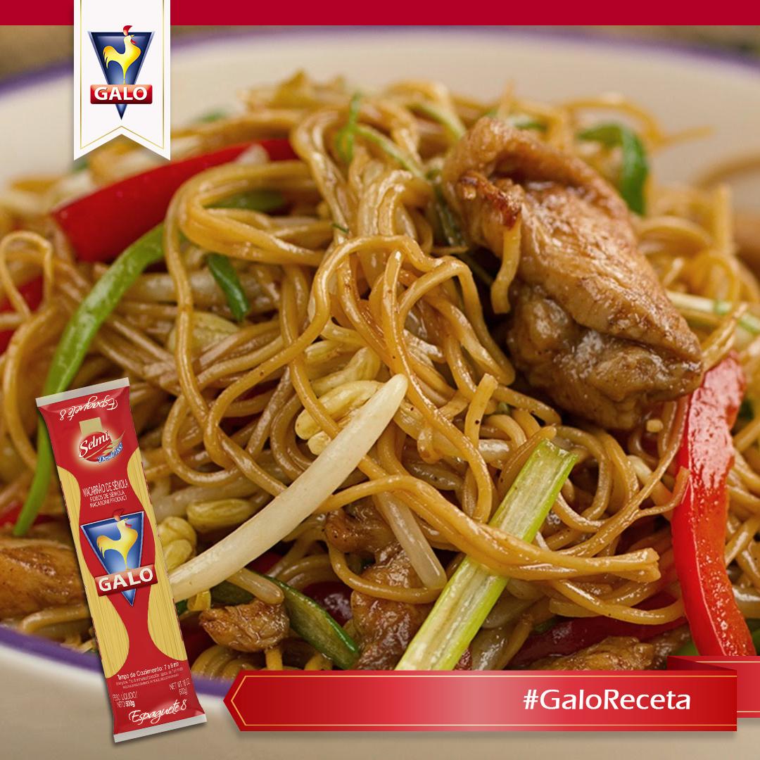 Prepara un delicioso spaghetti Galo con pollo y soya