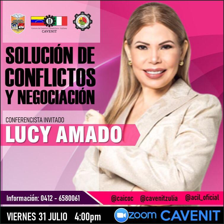 LUCY AMADO PRESENTA SOLUCIÓN DE CONFLICTOS Y NEGOCIACIÓN  A EMPRESAS VENEZOLANAS