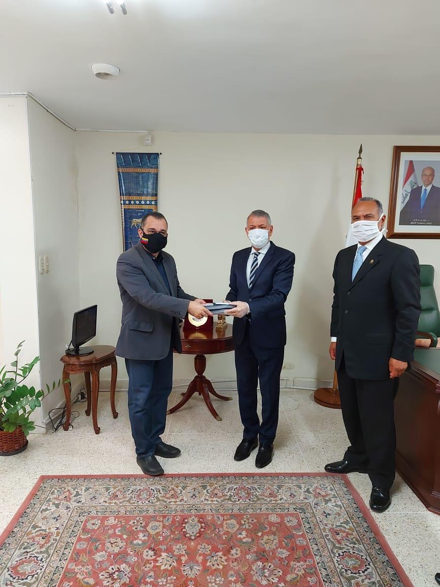 Embajador Kasim Asker Hasan recibió visita del Diputado Julio Chávez y del Embajador Arturo Gallegos