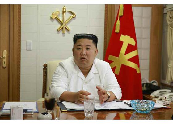 Máximo Dirigente Kim Jong Un convoca la reunión ampliada del Comité Ejecutivo del CC del PTC en la  zona damnificada