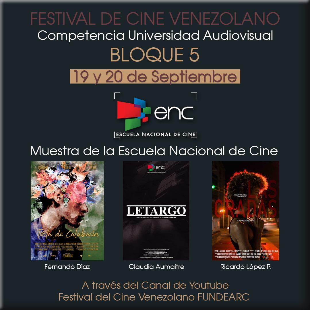 ESCUELA NACIONAL DE CINE PRESENTE EN LA XVI EDICIÓN DEL FESTIVAL DE CINE VENEZOLANO