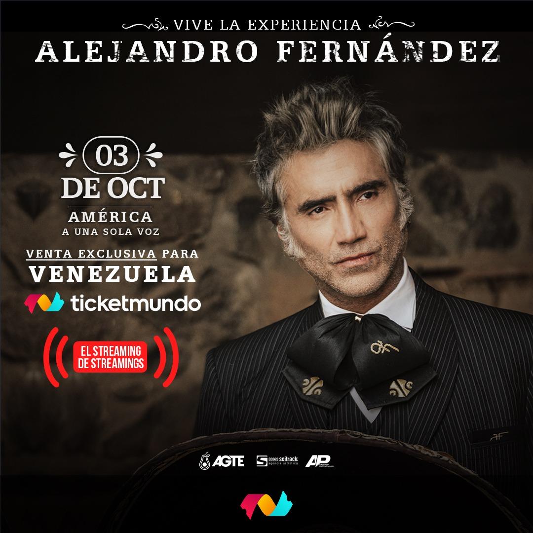 """Alejandro Fernández presentará su concierto  """"América a una sola voz"""" al público venezolano"""