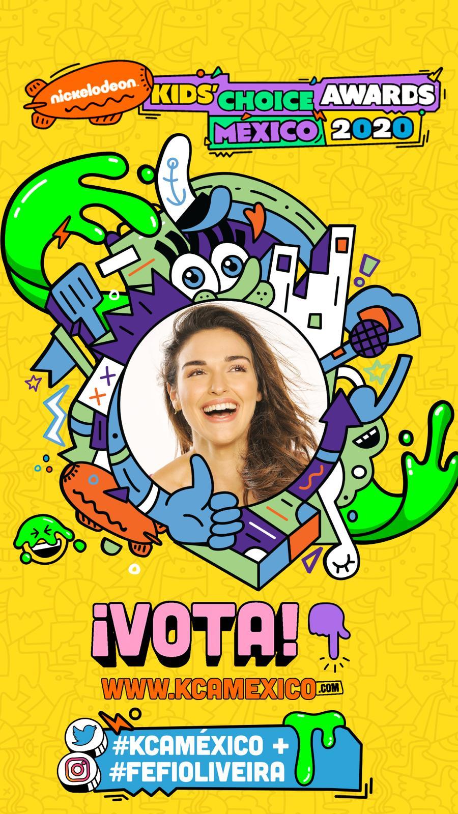 Fefi Oliveira compite por la Nominación Oficial de los «Nickelodeon Kid's Choice Awards México 2020»