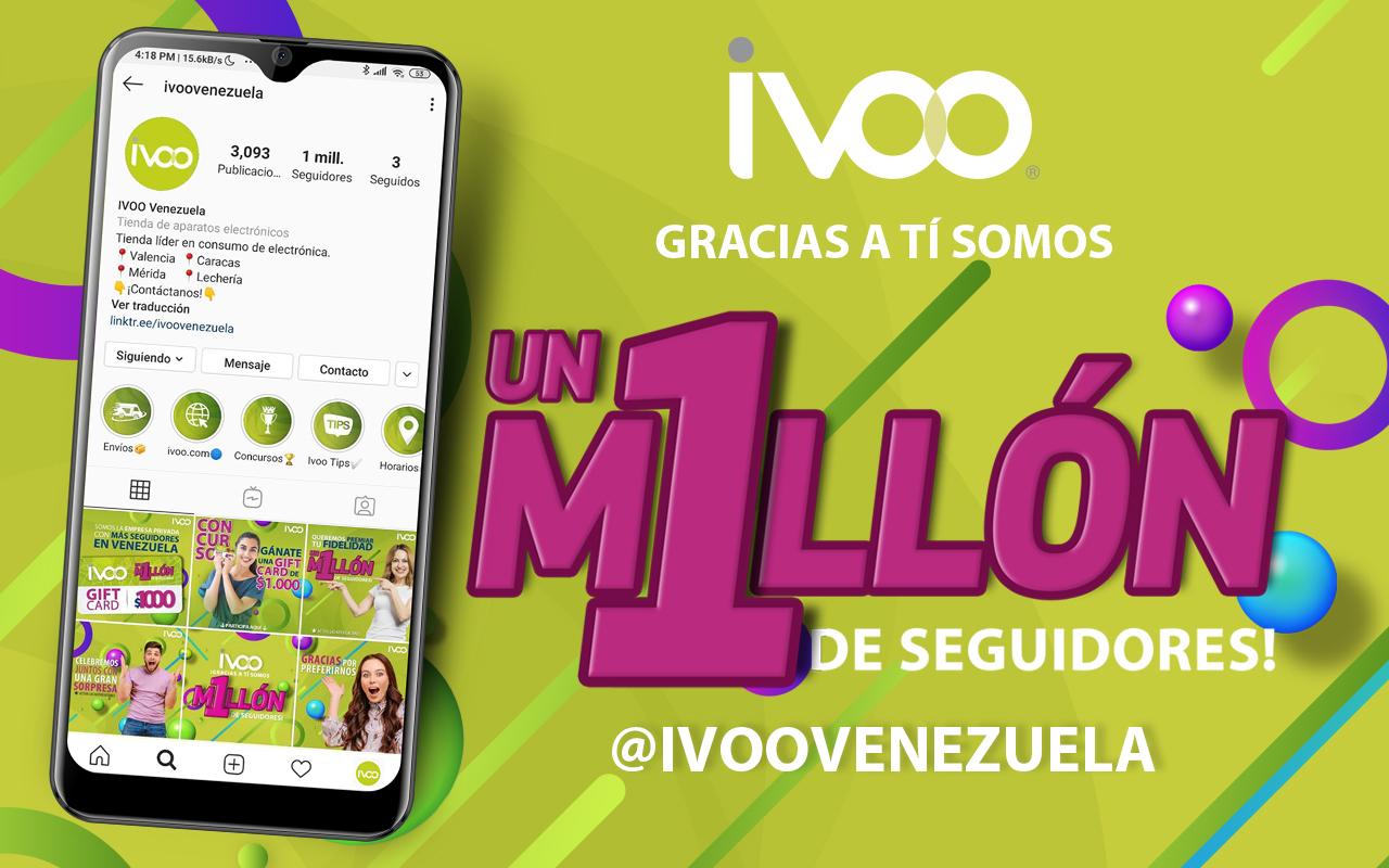 IVOO ALCANZA EL MILLÓN DE SEGUIDORES EN INSTAGRAM
