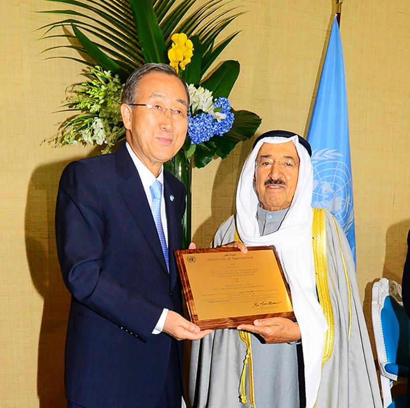 Se cumplen seis años del nombramiento del Emir de Kuwait como Líder Humanitario por las Naciones Unidas