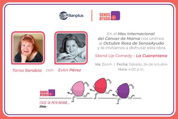 Banplus presenta Stand Up Comedy con Tania Sarabia y Evlin Pérez