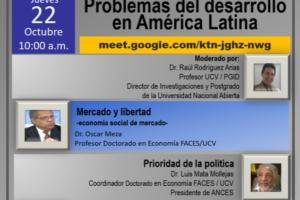 Destacados economistas estarán presentes este Jueves 22 en interesante charla