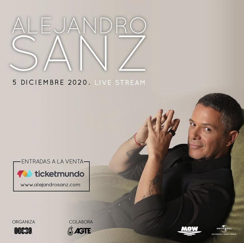 Venezuela disfrutará de Alejandro Sanz en concierto vía streaming