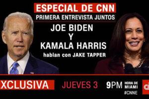 CNN ENTREVISTA EN EXCLUSIVA A JOE BIDEN Y KAMALA HARRIS JUNTOS POR PRIMERA VEZ