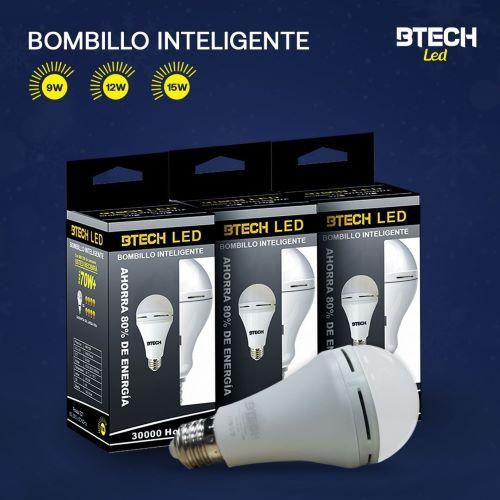 Bombillos LED recargable de BTECH.Eficiencia y seguridad ante las fallas eléctricas