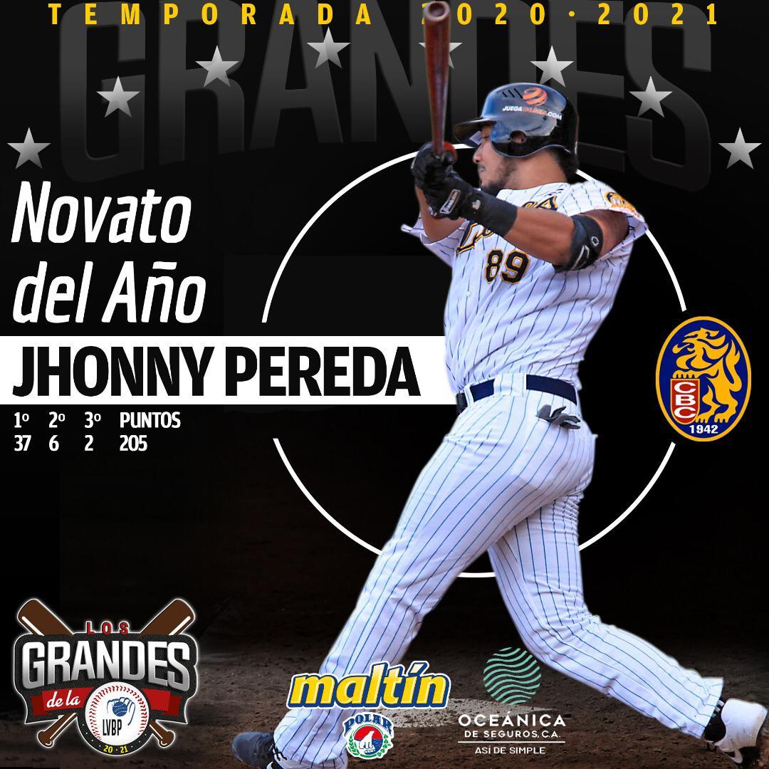 Jhonny Pereda es el Novato del Año