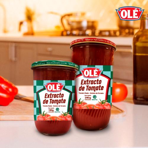 Olé presenta extracto de tomate en envase de vidrio