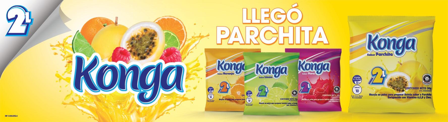 Konga presenta su nuevo y refrescante sabor a Parchita