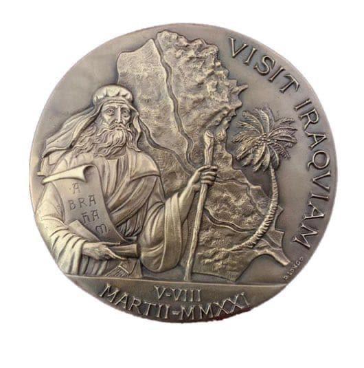 El Vaticano emite una medalla oficial por el viaje del Papa Francisco a Iraq