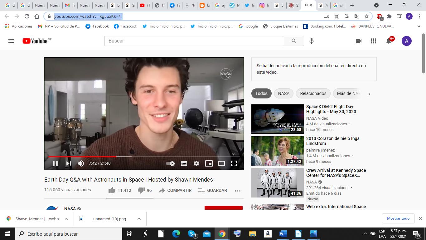 Shawn Mendes conversó con astronautas de la NASA