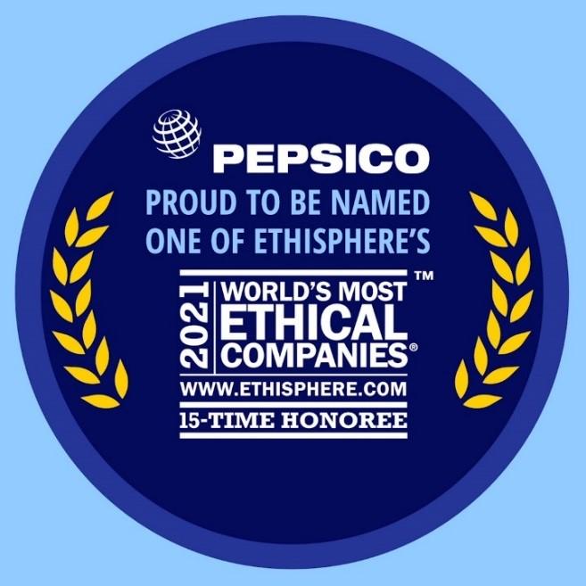PepsiCo fue reconocida como una de las compañías más éticas del mundo por 15. ° año consecutivo