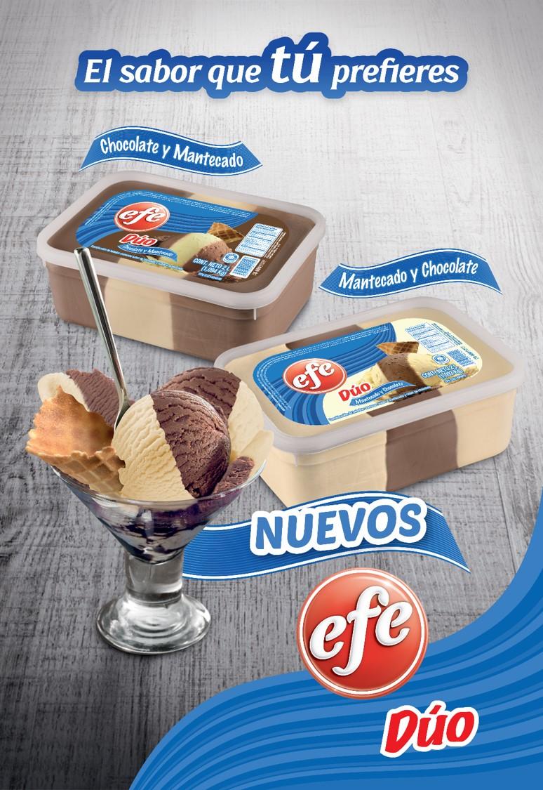 La marca más emblemática de helados en Venezuela sorprende con una nueva línea: Efe Dúo 2 litros