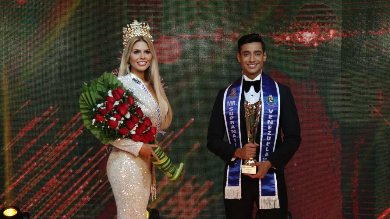 Valentina Sánchez y William Badell ganaron el título de Miss y Mister Supranational Venezuela 2021