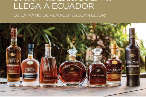 Ron Carúpano llega a Ecuador en alianza con la reconocida distribuidora Almacenes Juan Eljuri