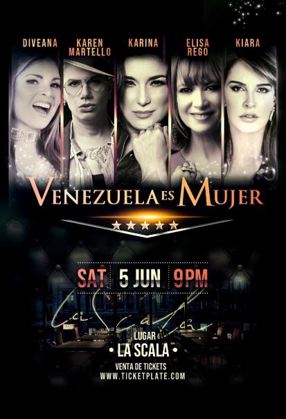 """""""Venezuela es Mujer"""" (Cinco Estrellas) anuncia su presentación"""