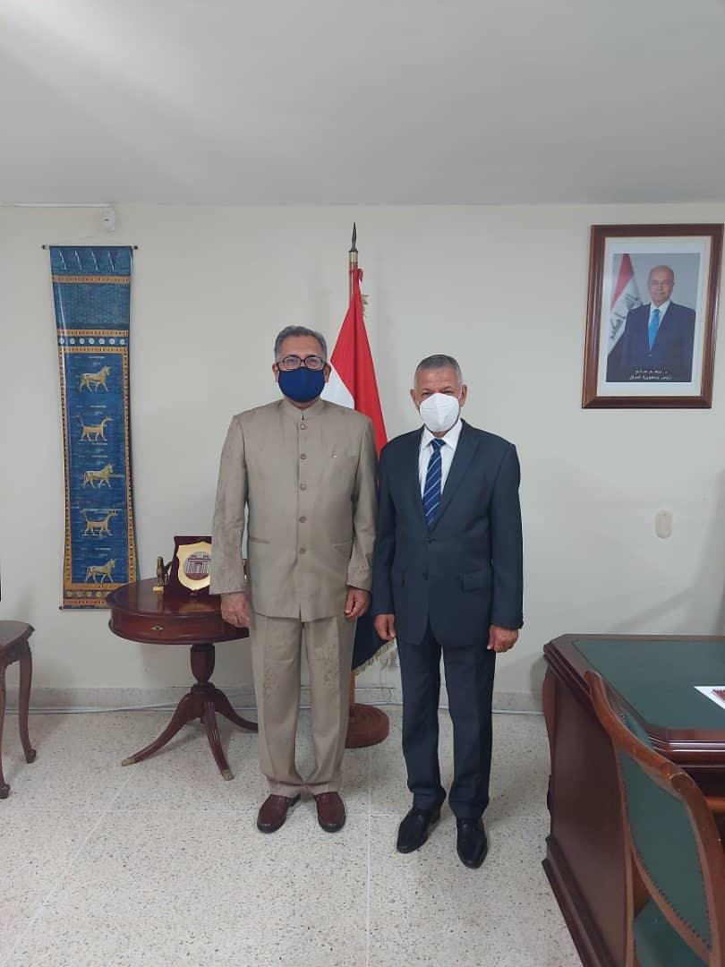 Reunión entre el Señor Embajador de la República de Irak, Dr. Kasim AskerHasan y el Vice Ministro para Las Zonas Económicas Especiales de Venezuela