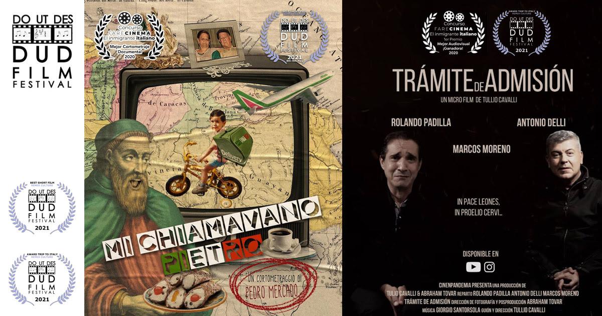 Dos cortos venezolanos triunfan en el Do Ut Des Film Festival de la Toscana italiana