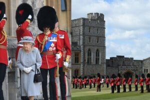 El cumpleaños oficial de la reina Isabel se marca con un desfile militar en el Castillo de Windsor