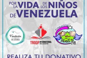 TODOS UNIDOS POR LA VIDA DE LOS NIÑOS DE VENEZUELA EL 12 DE JUNIO EN MIAMI