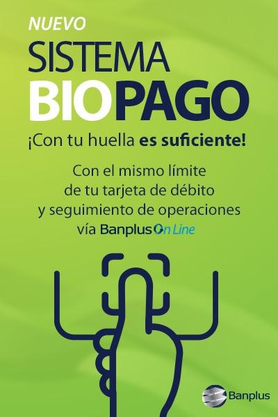 Nuevo servicio biopago de Banplus