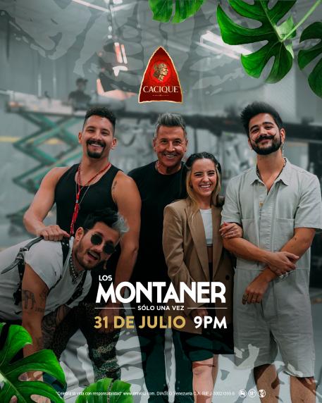 Cacique patrocinante oficial de Los Montaner: Sólo una vez