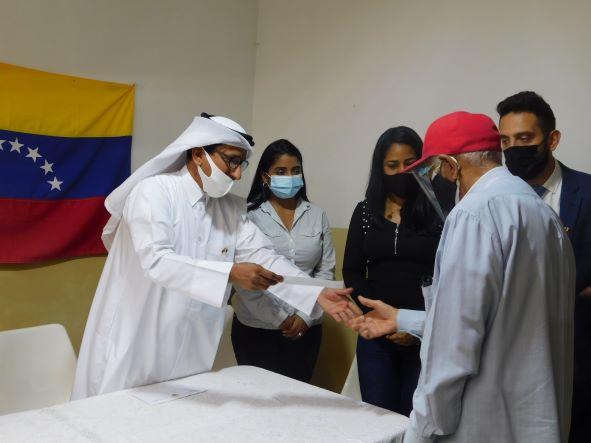 Embajador del Estado de Qatar, Rashid M. Fetais, realiza visita a la Casa de Abuelos en La California