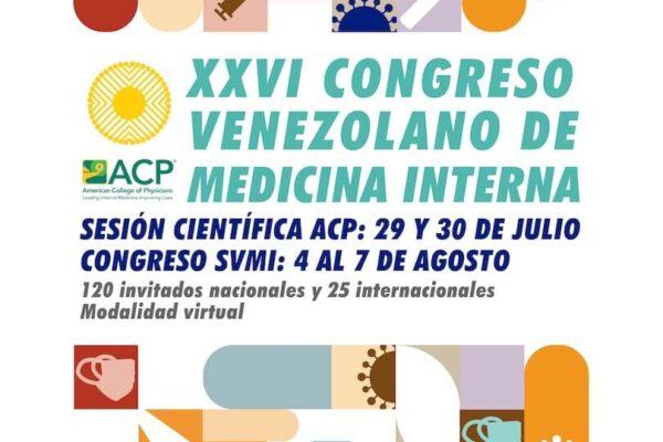Retos en Tiempos de Pandemia: 4 al 7 agosto XXVI Congreso Venezolano de Medicina Interna