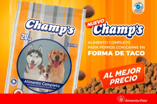 3 de 3 Alimentos Polar relanza Champ's, un producto que se une al portafolio para mascotas