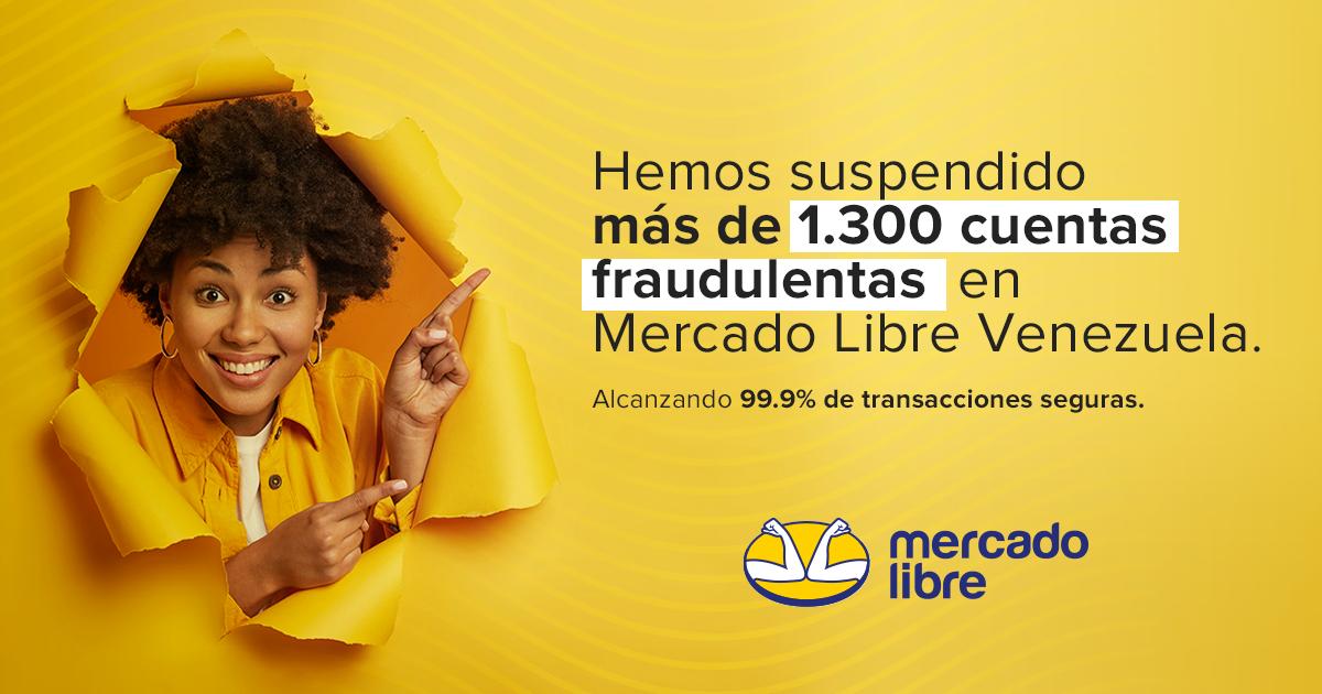 Suspendidas más de 1.300 cuentas en Mercado Libre Venezuela