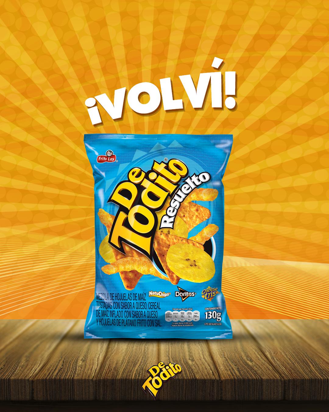 Tus snacks favoritos vuelven a estar juntos con  De Todito® Resuelto