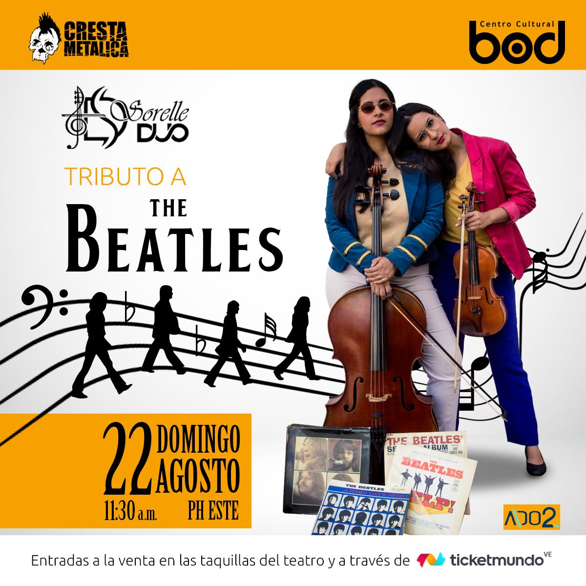 The Beatles suenan en formato de violín y violonchelo con Sorelle Dúo