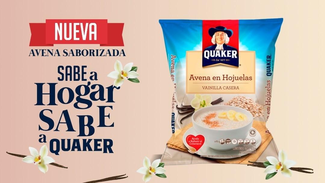 Quaker presenta al mercado venezolano la nueva avena en hojuelas sabor a Vainilla casera